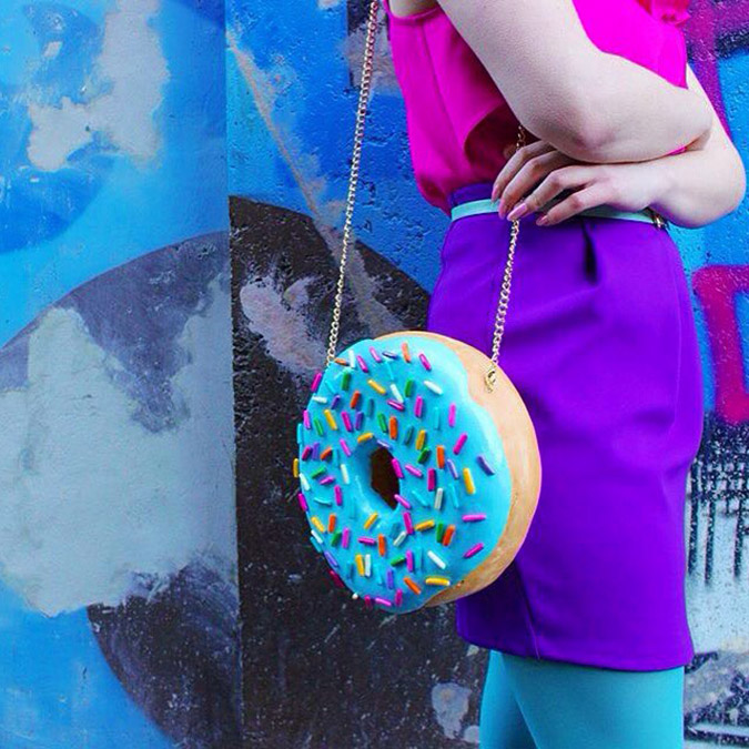 food-shaped purses donut
