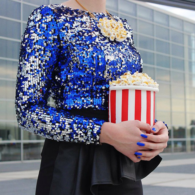 food-shaped purses popcorn purse
