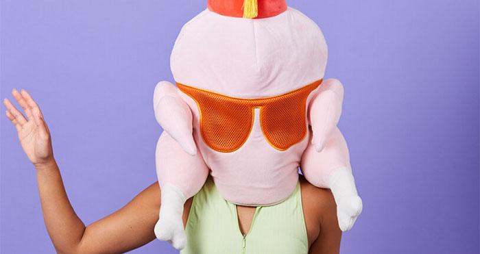 friends thanksgiving turkey mask