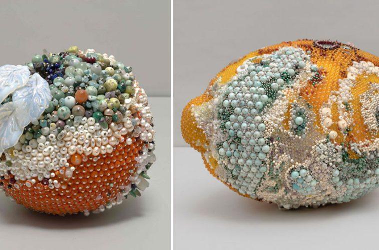 fruit gemstone sculptures