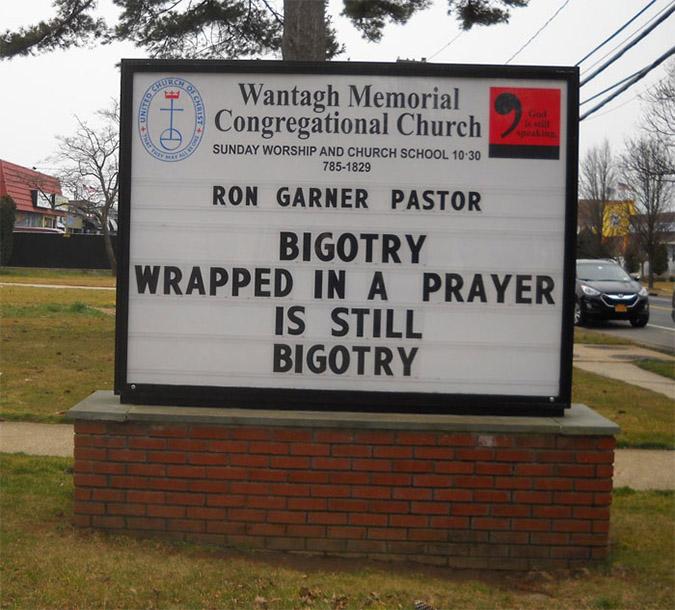 funny church signs bigotry