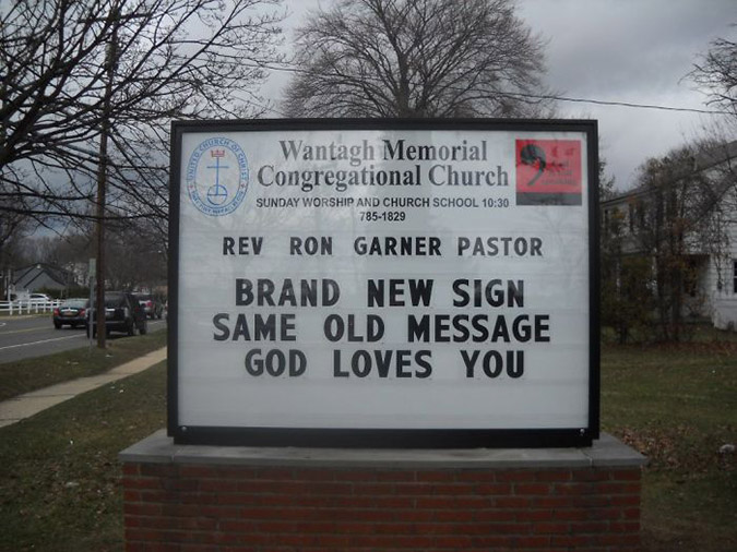 funny church signs brand new sign same old message