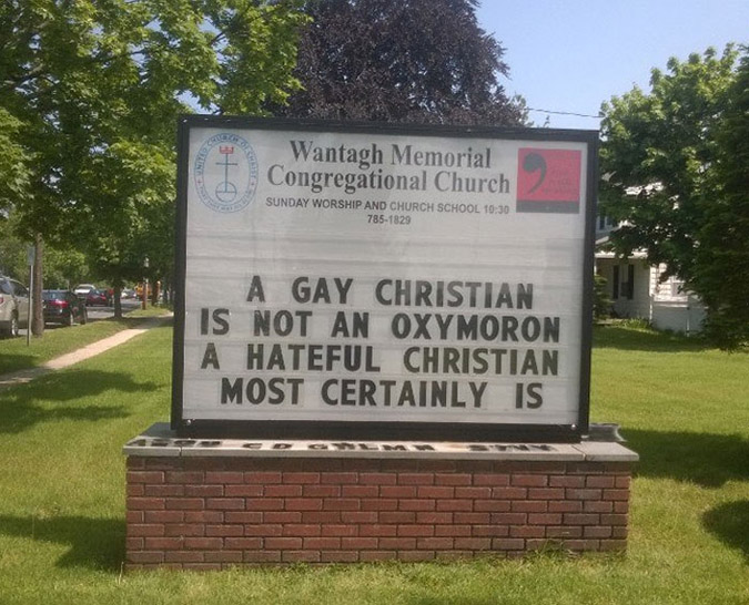 funny church signs ron garner oxymoron