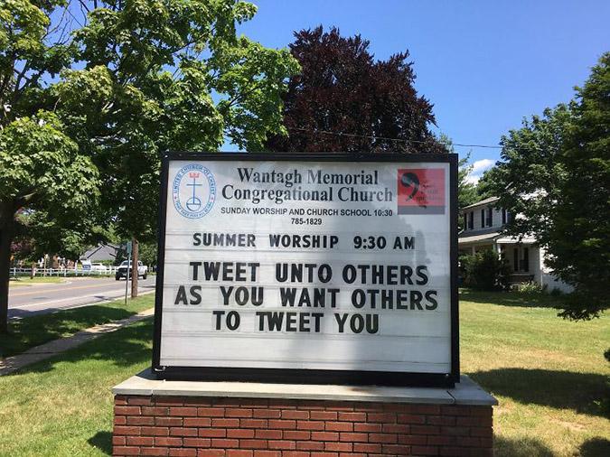 funny church signs tweet