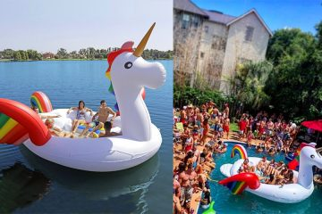 giant inflatable unicorn float