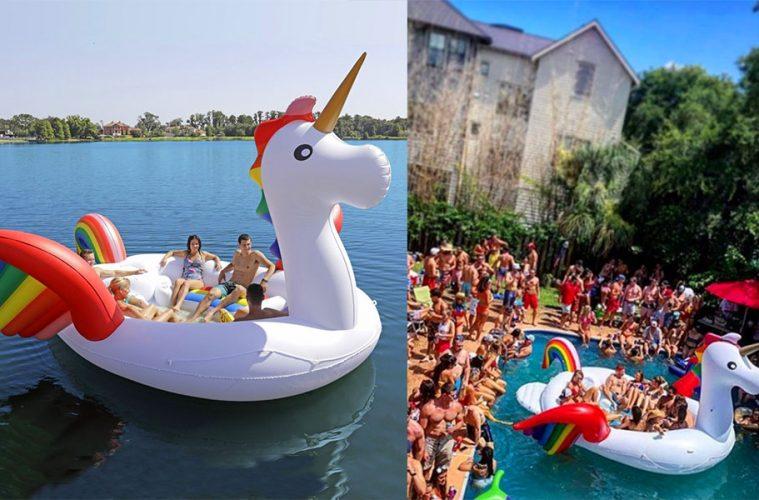 giant inflatable unicorn float