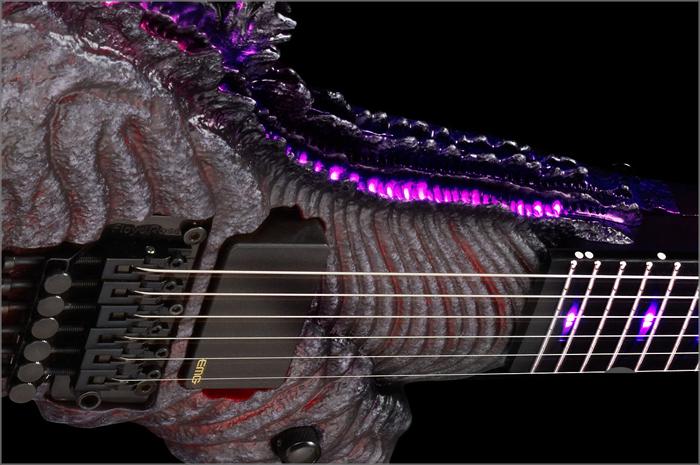 godzilla electric guitar fingerboard