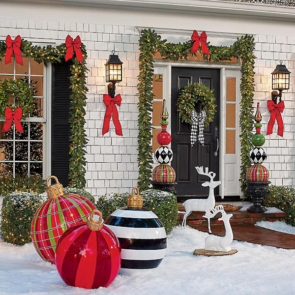 grandin road large oversized outdoor christmas ornaments giant balls