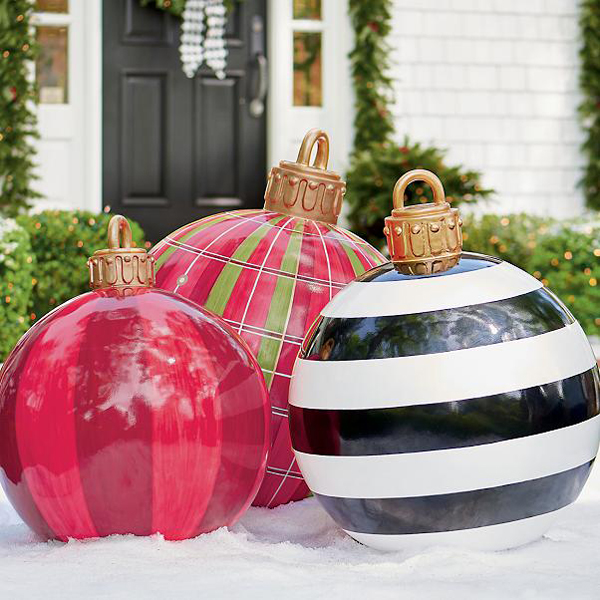 grandin road large oversized outdoor christmas ornaments three sizes