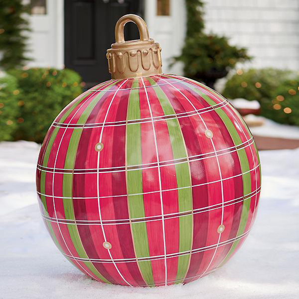 grandin road large oversized outdoor christmas ornaments