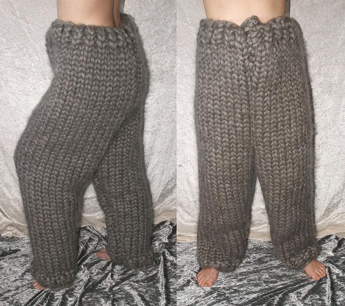 gray knitted pajamas