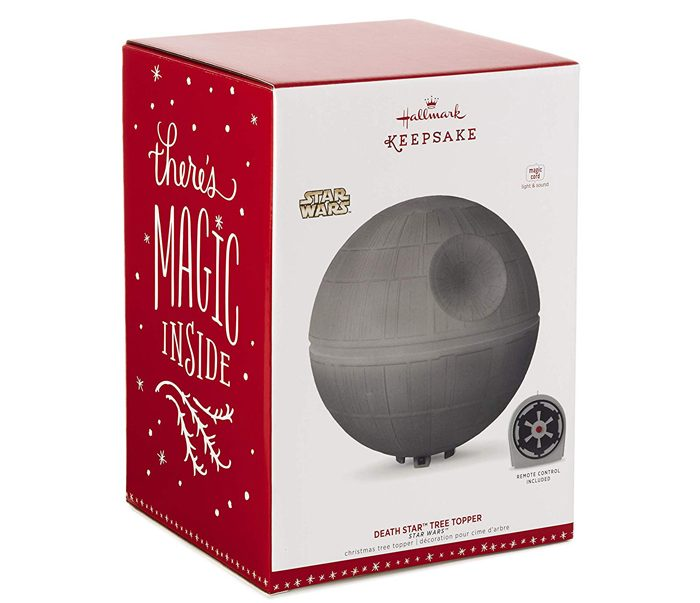 hallmark keepsake death star christmas tree topper gift box