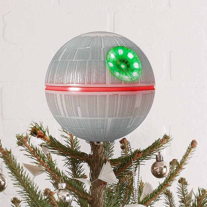 hallmark keepsake death star christmas tree topper light effects