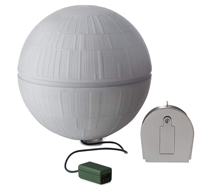 hallmark keepsake death star christmas tree topper power adapter remote control