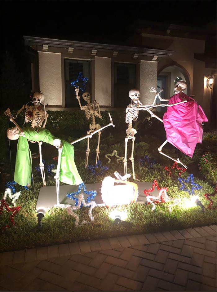 halloween skeletons dance party