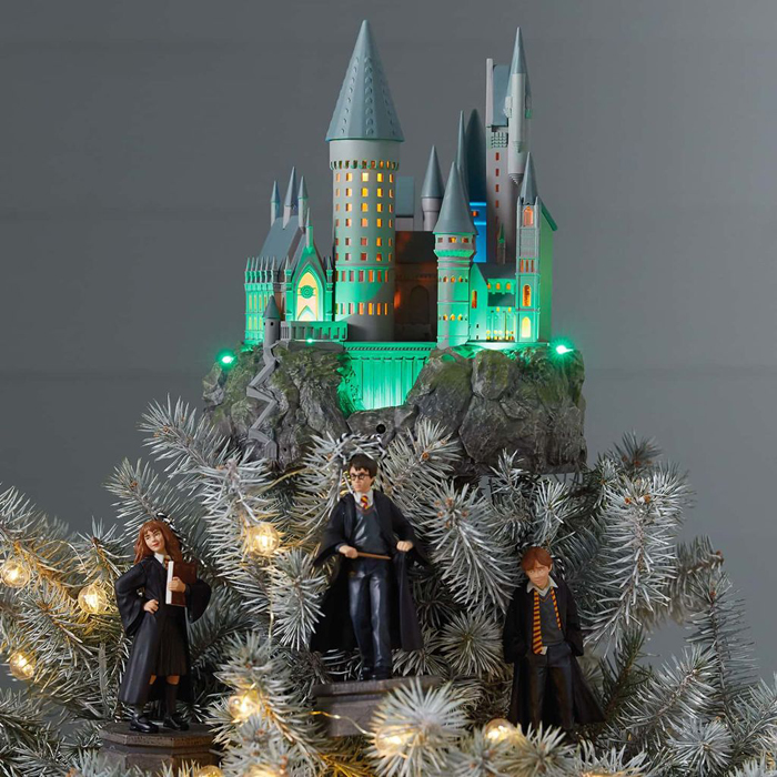 harry potter hogwarts tree topper with ornaments