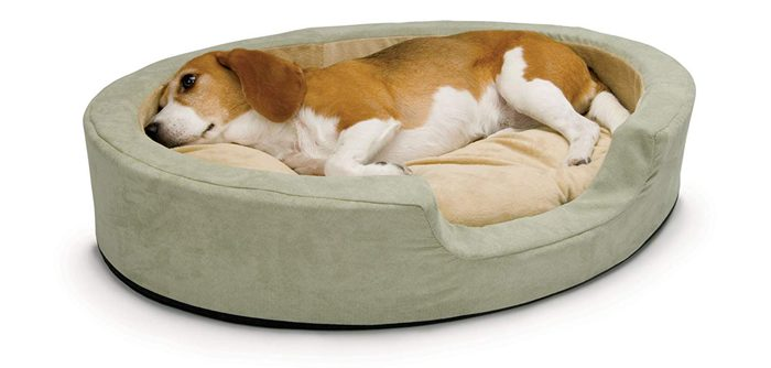 heated pet bed with internal thermostat