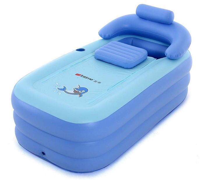 inflatable spa bath tub blue