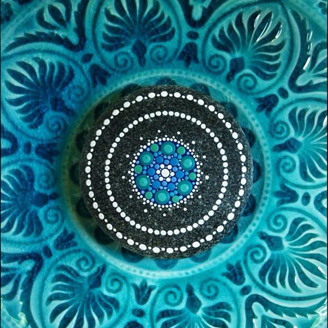 intricate mandala stones