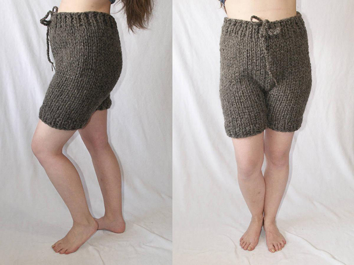 knitted adult shortpants