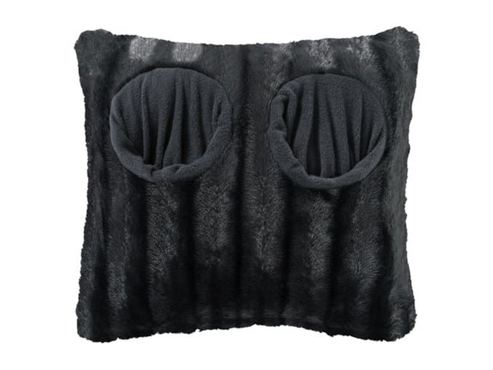 lidl giant cushion slipper black