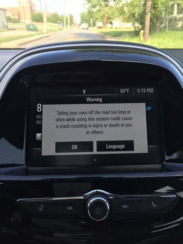 long distracting message warning about distracted driving ironic moments