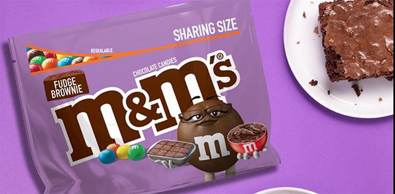 m and ms fudge brownie