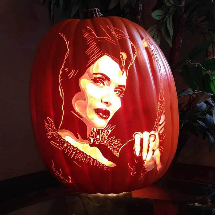 cool pumpkin carvings maleficent