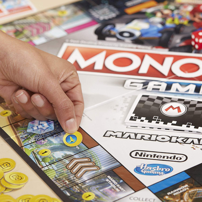 mario kart monopoly banana peels