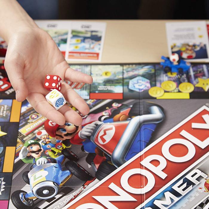 mario kart monopoly numbered power-up dies