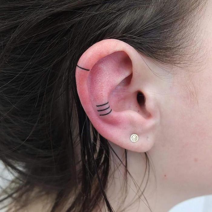 minimalist helix ear tattoo indyvoet