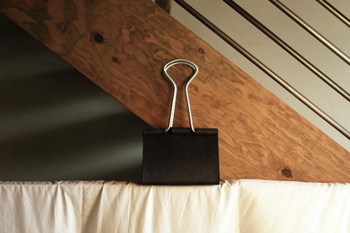 office binder clip bag realistic design