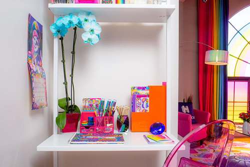 office space at lisa frank hotel room