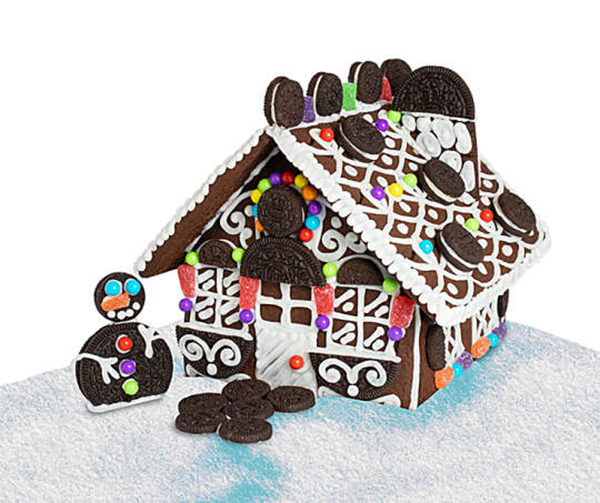 oreo holiday cookie house
