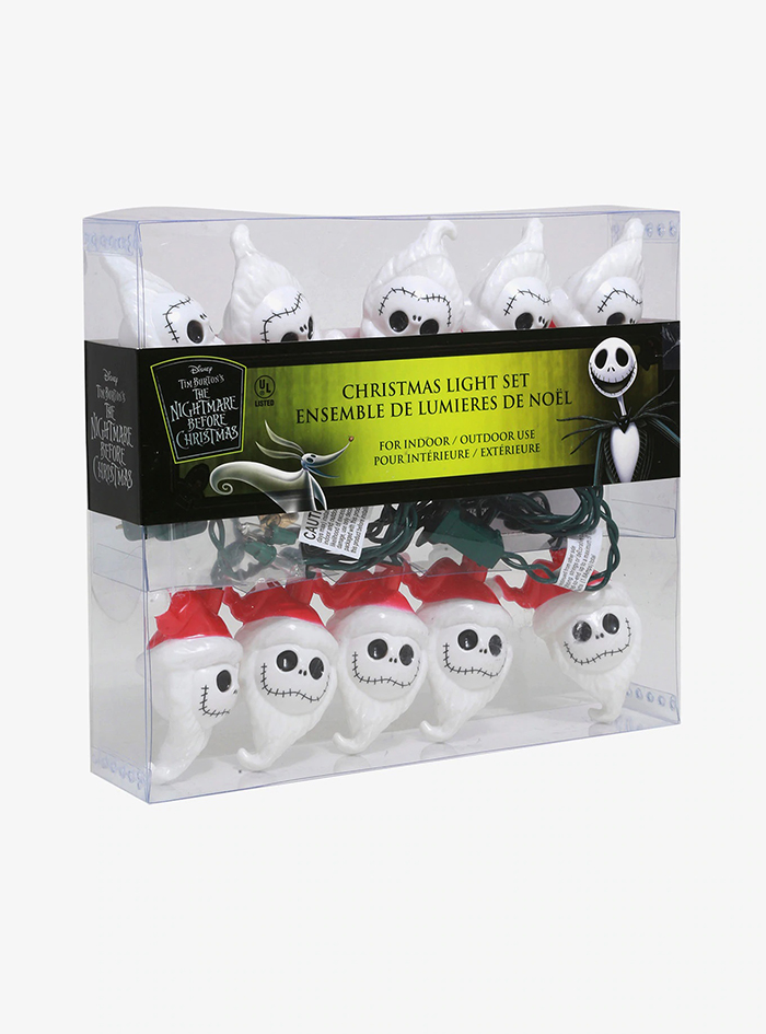 packaging of jack skellington lights