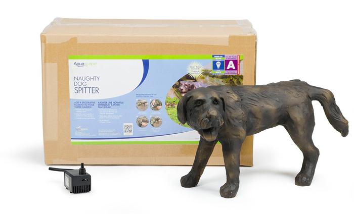 peeing dog water fountain statue box