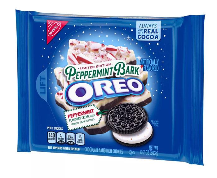 peppermint bark oreo cookies