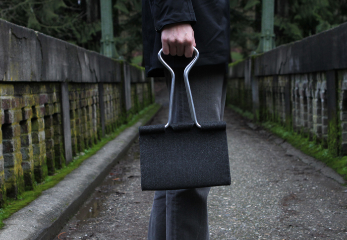 peter bristol office binder clip bag design