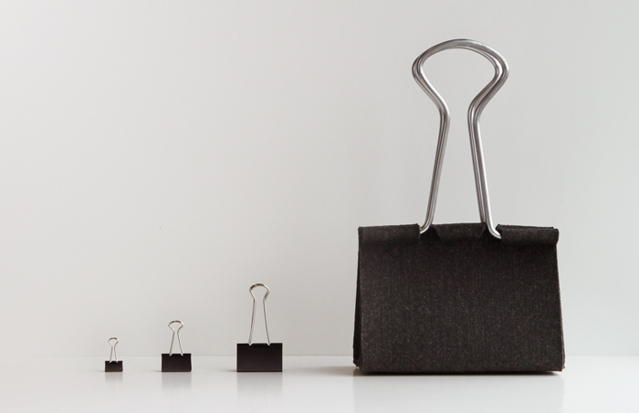 peter bristol office binder clip bag size comparison vs real thing
