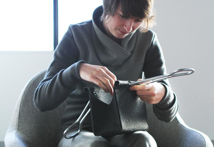 peter bristol office binder clip bag stylish