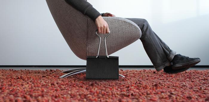 peter bristol office binder clip bag whimsical design