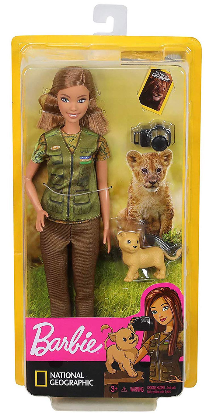 photojournalist barbie in box