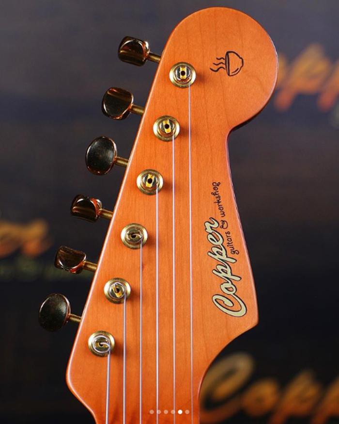 ramen noodle electric guitar headstock