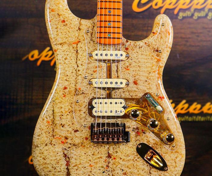 ramen noodle electric guitar