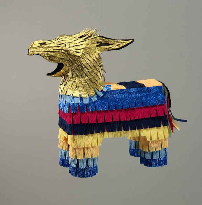 roberto benavidez pinatas medieval monsters eagle donkey hybrid