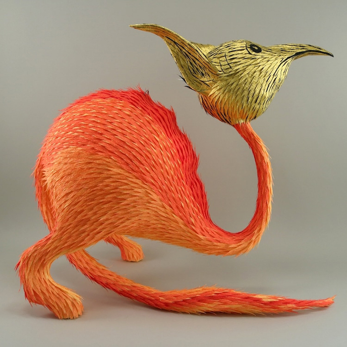 roberto benavidez pinatas medieval monsters ostrich rat hybrid creature