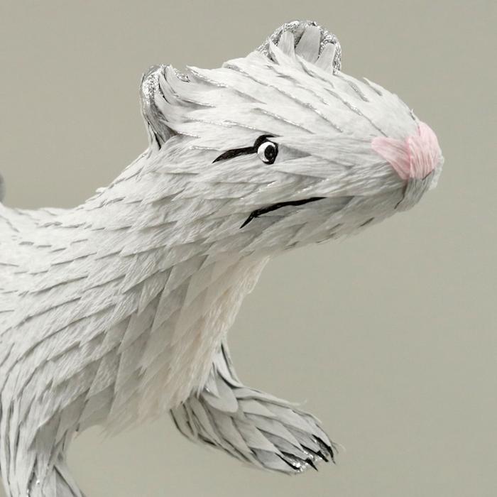 roberto benavidez pinatas white mongoose head