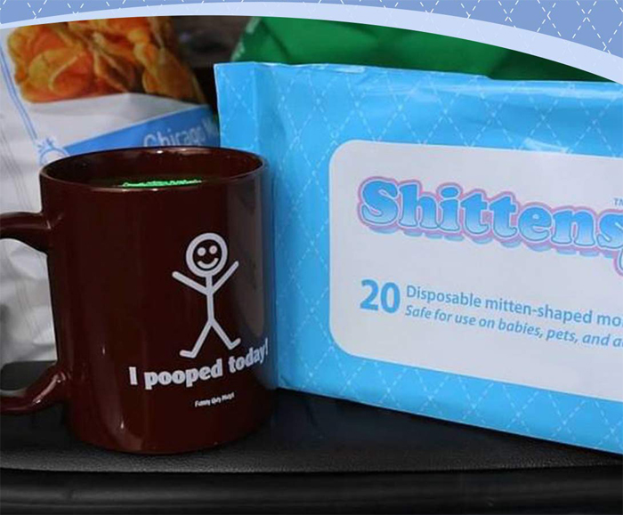 shittens disposable mitten-shaped wipes clean spillage