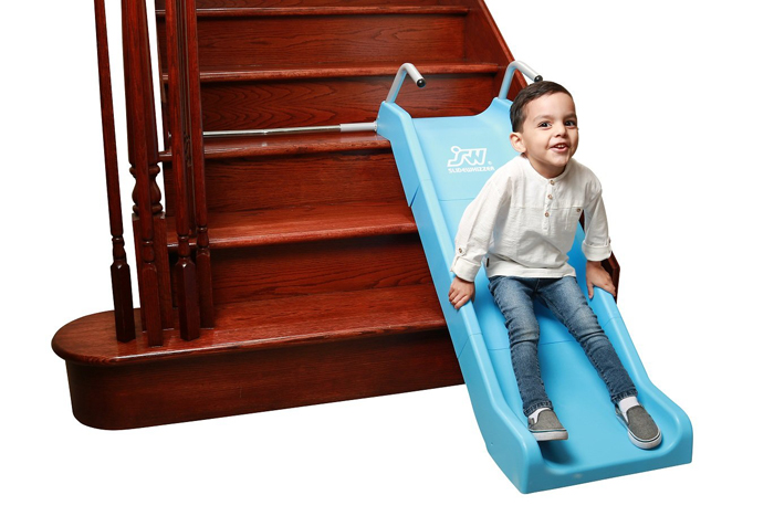slidewhizzer indoor stair slide expandable