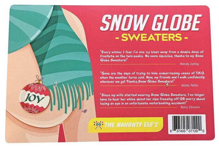 snow globe nipple sweaters back